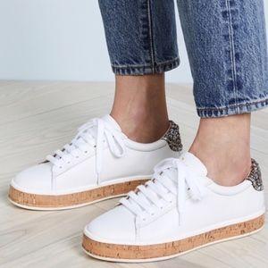 Kate Spade cork embellished sneakers